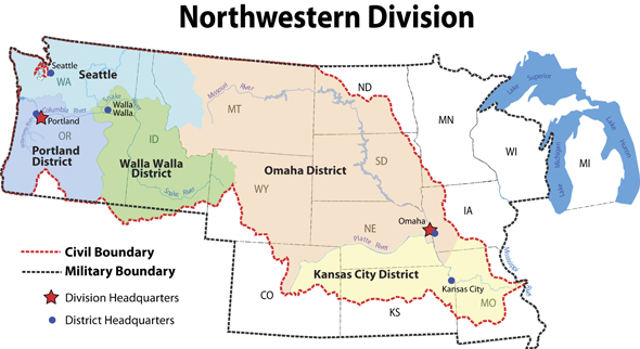 Northwestern Division Locations - Northwestern us map